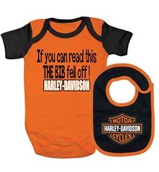 Harley Davidson Baby Boy Gift Set Bib Leather Bound Online