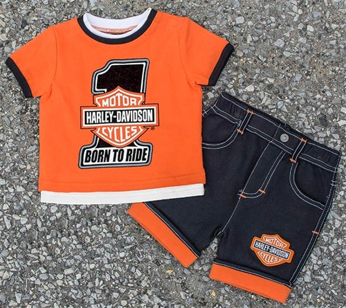 d2e09539d Harley-Davidson Toddler Boy Outfit - Biker Clothes - Leather Bound Online
