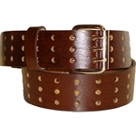 Extra Wide Leather Belt: Brown Oil-Tan