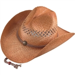 Henschel Vented Men's Straw Cowboy Hat