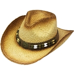 Henschel Straw Cowboy Hat: Beaded Band