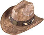 Henschel Straw Cowboy Hat - Hand-Stained Australian