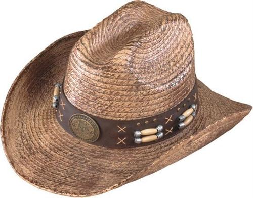 Henschel Straw Hand-Stained Australian Cowboy Hat   Beaded Band d569d41a34b