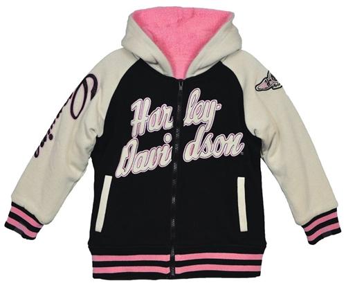 Harley Davidson Girls Sherpa Fleece Jacket Leather Bound
