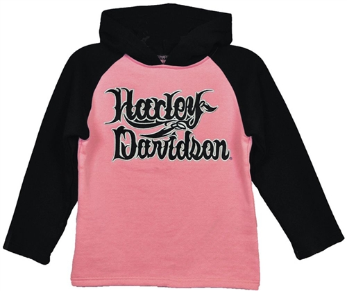 Harley Davidson Kids Clothing Girls Fleece Hoody Leather Bound
