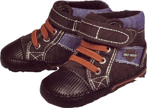 Harley Davidson Baby Clothes - Boys Sneakers- Leather Bound Online