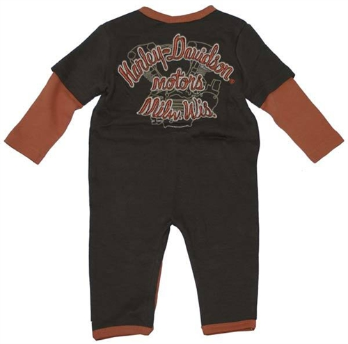 Harley-Davidson Baby Boy Clothes - Coverall Outfit - Leather Bound