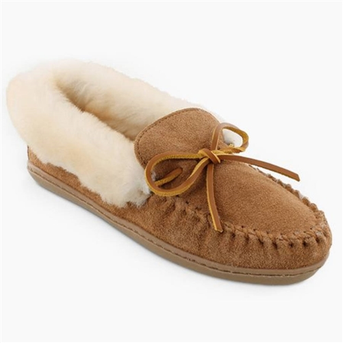 Ladies Alpine Sheepskin Minnetonka Slippers (Cinnamon) 7d04d5b427
