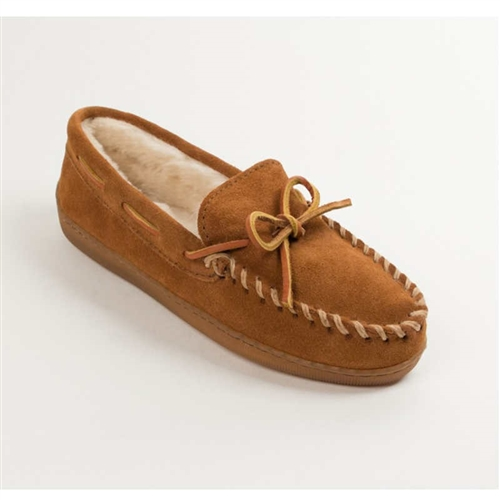 3cfca0b6db2d Minnetonka Moccasin Slippers for Men  3902 Pile Lined Suede