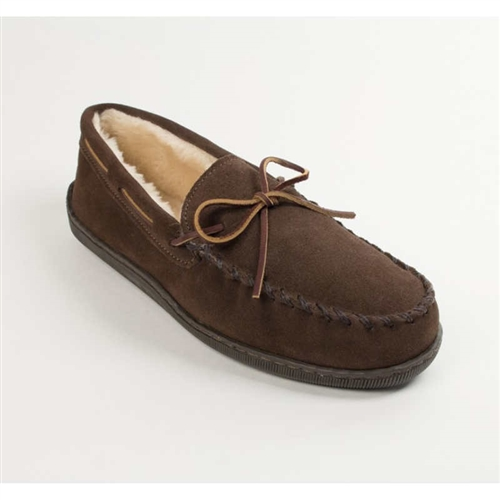 96c94a3622e Minnetonka Moccasin Slippers for Men - Pile Lined  3908