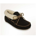 Ladies Chrissy Minnetonka Slippers Black Moccasins
