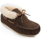 Ladies Chrissy Minnetonka Slippers 40032 Chocolate