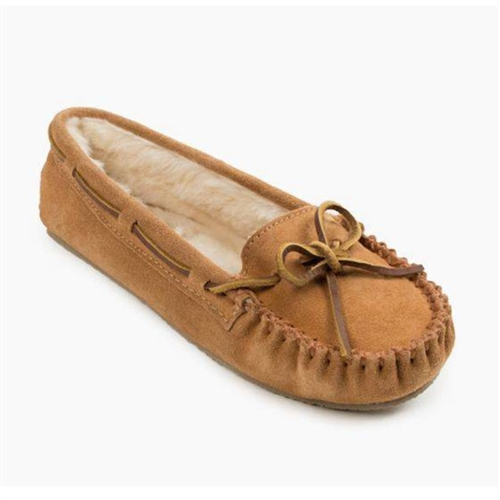 9b15fb99ec2 Womens Minnetonka Moccasin Slippers - Cinnamon