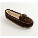 Women's Minnetonka Moccasin Cally Slipper Brown