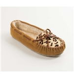 Minnetonka Moccasins: 40161 Taupe Leopard Slippers
