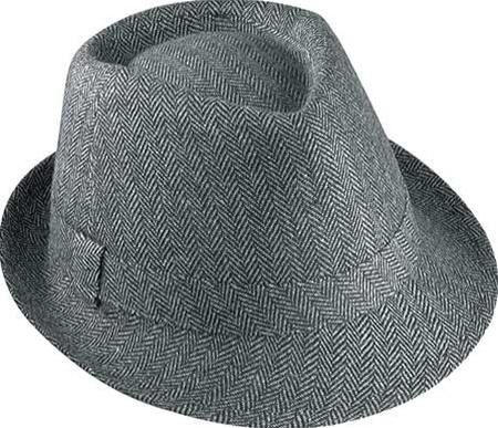 2a8ec2747d4 Fedora Hats - Henschel Black Herringbone Fedora - Leather Bound Online