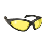 Padded Motorcycle Glasses - Yellow Len's
