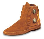 Minnetonka Boots - Two Button Brown Suede
