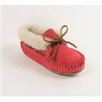"Minnetonka Moccasin Girls Slippers - Hot Pink ""Charley"""
