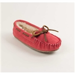 "Minnetonka Moccasin Girls ""Cally"" Hot Pink Slipper"