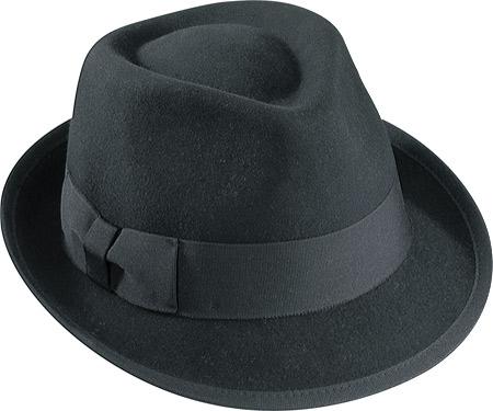 cd9c9dab2b4 Henschel Fedora Hats - Black Wool - Leather Bound Online