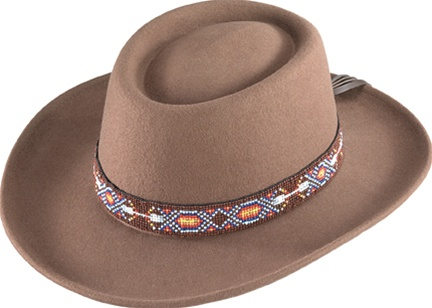319c707aa Henschel Crushable Felt Gambler Hat With Beaded Band
