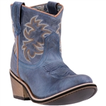Shortie Laredo Western Boots: Blue Leather