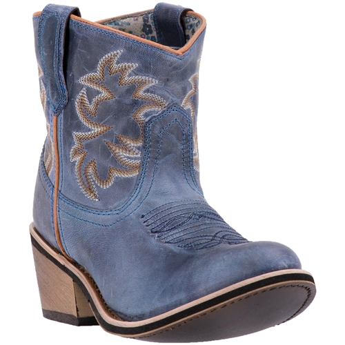 e6705ad6697 Free Shipping l Laredo Leather Shortie Blue Western Boots