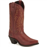Ladies Laredo Western Boots - Burnished Red Leather