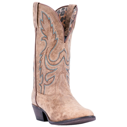 6a5ad910f69 Laredo Tan Leather Women's Cowgirl Boots