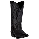 Laredo Women's Black Leather Western Boots