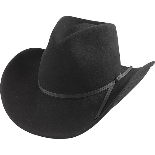 08e7d5c4810a2 Black U-Shape-It Wool Henschel Cowboy Hats  Indiana Jones Style