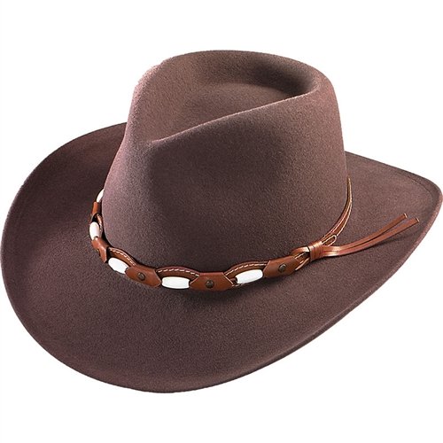 Henschel Mens Wool Cowboy Hats - Soft Brown Outback Western 3b4521ffc1c
