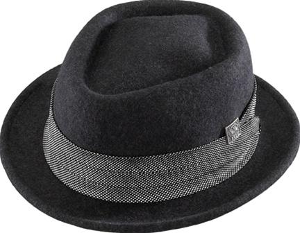 533d696e351 Henschel Soft Felt Diamond Crown Hat 5176 - Leather Bound Online