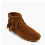Minnetonka Fringe Ankle Boot - Brown Feather