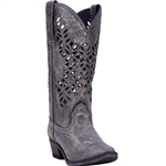 Laredo Women's Gray Leather Cowgirl Boots