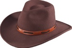 Felt Cowboy Hats - Henschel Brown Western Hat