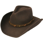 Henschel Cowboy Hats - Men's Brown Wool