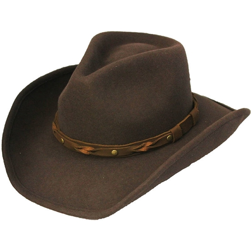 Henschel Mens Wool Cowboy Hats - Brown Water-Resistant Western 55a66a72cde