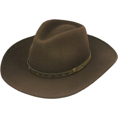 Henschel Mens Wool Outback Hats - Brown Water-Resistant Western c6f90c28e68