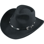 Black Wool Cowboy Hats: Henschel Outback