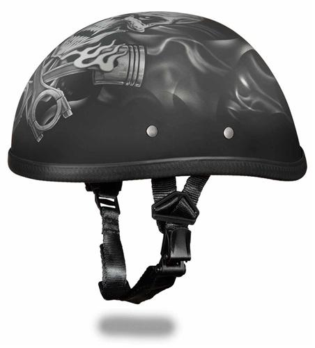 Lightweight Motorcycle Helmet >> Piston Skull Premium Novelty Helmet