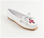 Minnetonka Moccasins - Thunderbird II White Leather Kilty
