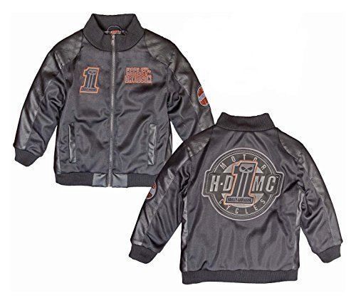 Toddler Boys Harley Davidson Motorcycle Jacket Mesh