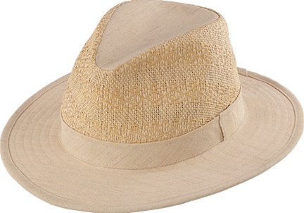 a4f0a5db0f1 Henschel Breezer Hat - Crushable Wool and Linen Safari - Leather ...