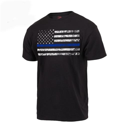Blue line flag shirt.