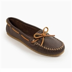 Womens Brown Minnetonka Moccasins Boat Mocc