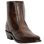 Laredo Short Brown Leather Cowboy Boots: Clearance
