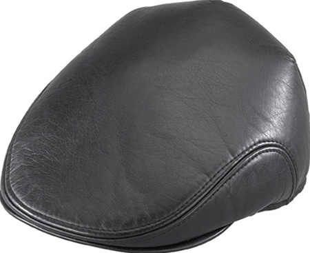 Men s Ivy Hats- Henschel Faux Leather Black Ivy - Leather Bound Online 2afc21568ffe