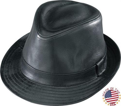 6306802374ff0 Classic Black Leather Fedora